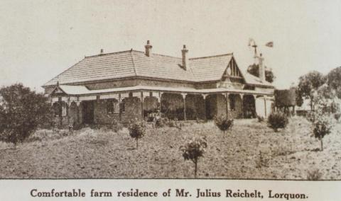 Mr Julius Reichelt's home, Lorquon, 1923