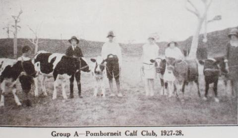 Pomborneit calf club, 1927-28