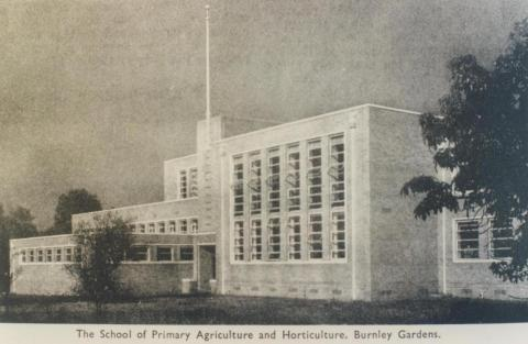 School of Primary Agriculture and Horticulture, Burnley Gardens, 1955