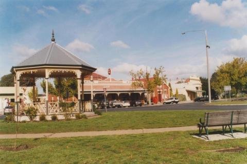 Bandstand and American Hotel, Creswick, 2010