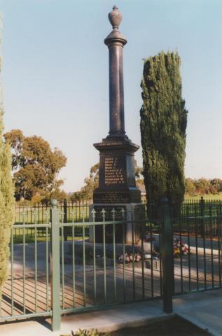 War memorial, Wandin North, 2010