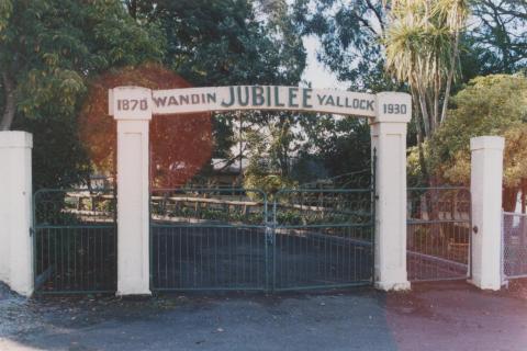 Wandin North school gates, 2010