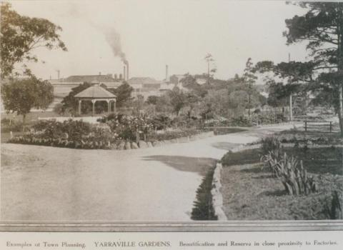 Yarraville Gardens, Footscray, 1924
