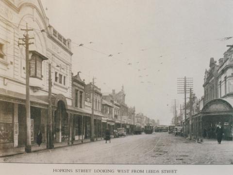 Hopkins Street looking west from Leeds Street, Footscray, 1924