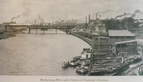 Maribyrnong River and Footscray factories, 1928