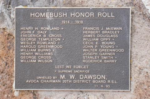 Honour Roll Homebush, 2010