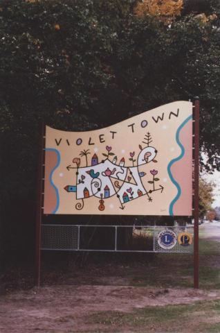 Sign, Violet Town, 2012