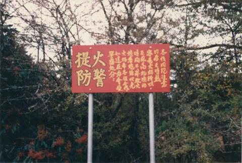 Beechworth cemetery, Chinese section, 1980