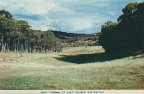 First fairway at golf course, Daylesford, 1957