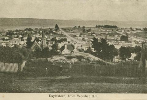 Daylesford from Wombat Hill