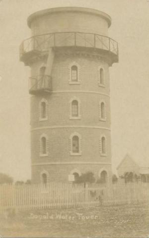 Donald water tower, 1909