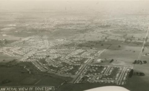 An aerial view of Doveton