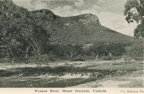 Wannon River, Mount Sturgeon, Dunkeld, 1952