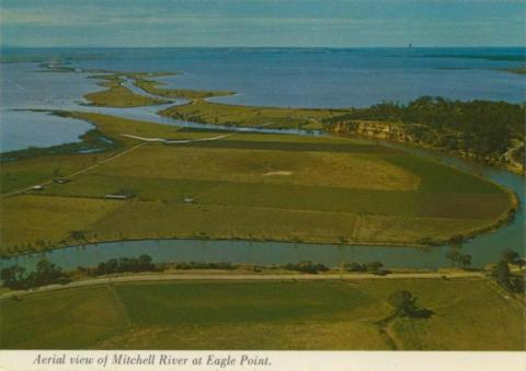 Aerial view of Mitchell River, Silt Jetties and the Bluff at Eagle Point