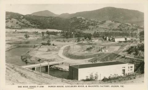 Power House, Goulburn River and Masonite Factory, Eildon