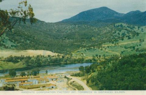 Masonite Corporation Factory (Mt Torbreck in distance) Eildon