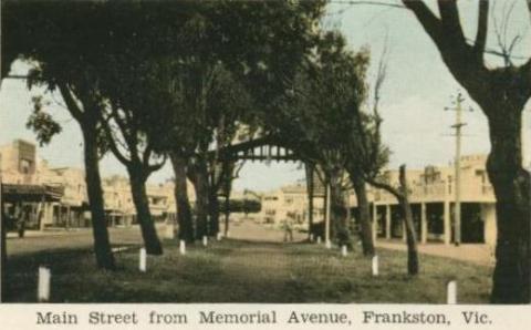Main Street from Memorial Avenue, Frankston