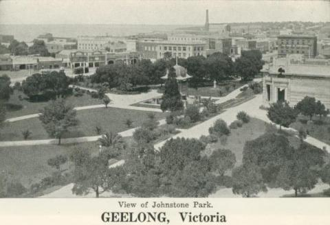 View of Johnstone Park, Geelong, 1948