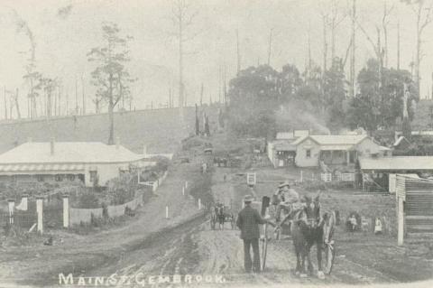 Main Street, Gembrook, 1907