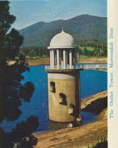 The outlet tower, Maroondah Dam, Healesville