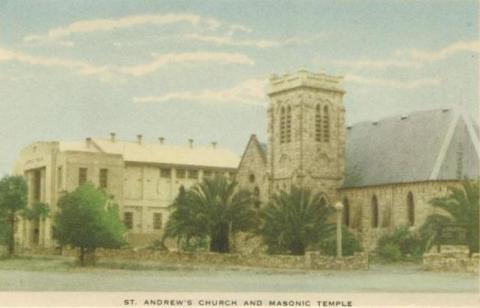 St Andrew's Church and Masonic Temple, Horsham, 1951