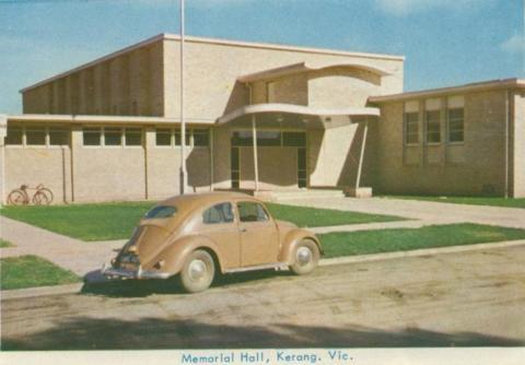 Memorial Hall, Kerang, 1965