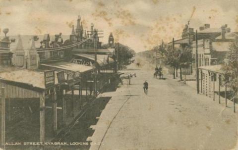 Allan Street, Kyabram looking east, 1918