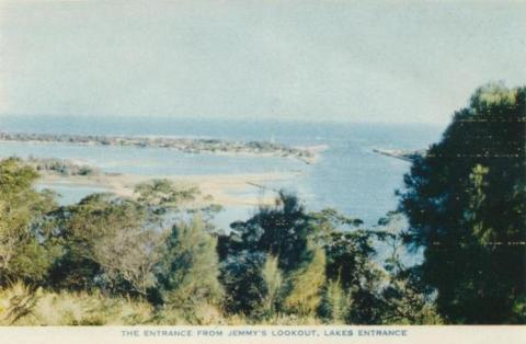 The Entrance from Jemmy's Lookout, Lakes Entrance, 1955