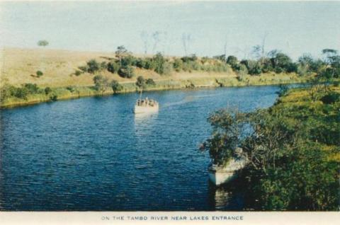 On the Tambo River, near Lakes Entrance, 1955