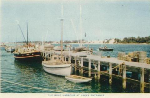 The Boat Harbour at Lakes Entrance, 1955