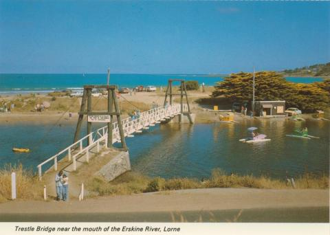 Trestle bridge at the mouth of the Erskine River, Lorne