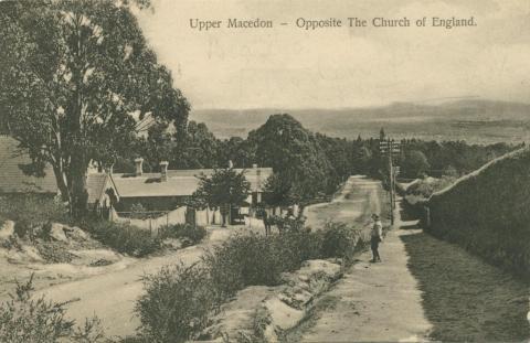 Upper Macedon, opposite the Church of England, 1912
