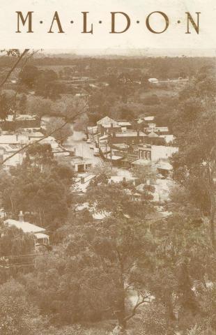 Township from Anzac Hill, Maldon
