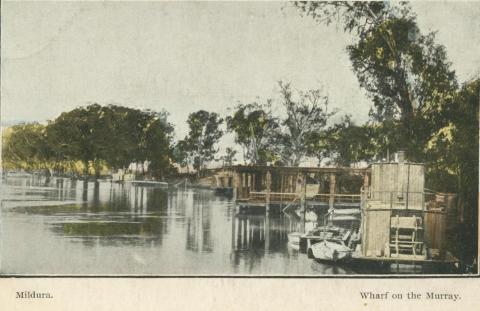 Wharf on the Murray, Mildura