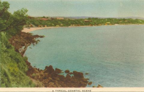 A typical coastal scene Mornington, 1951