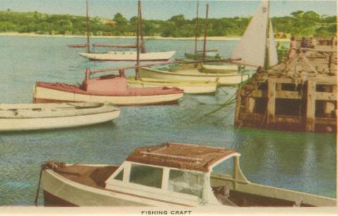 Fishing craft, Mornington, 1951