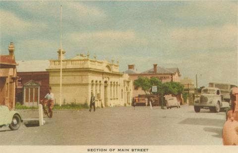 Section of main street, Mornington, 1951