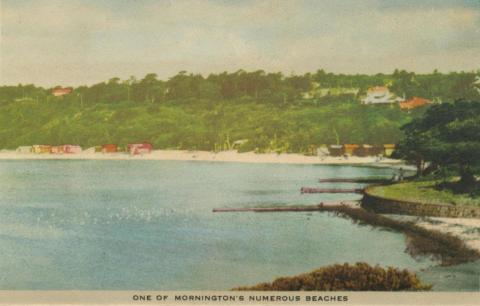 One of Mornington's numerous beaches, 1951