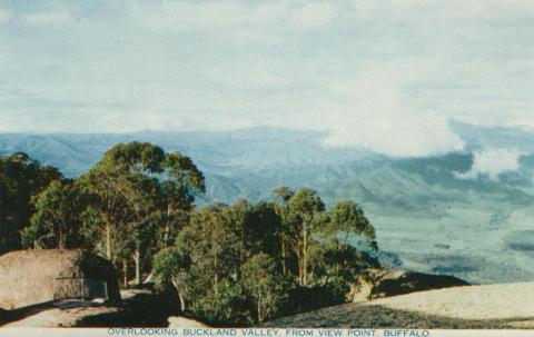 Overlooking Buckland Valley from View Point, Mount Buffalo, 1958