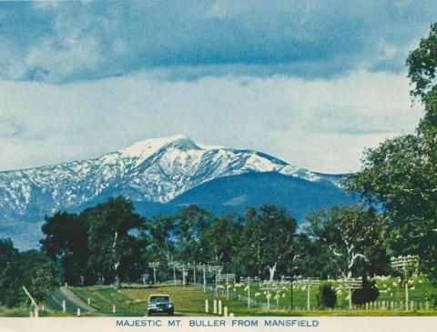 Majestic Mount Buller from Mansfield, 1974