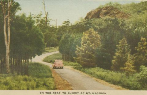 On the road to the Summit of Mount Macedon, 1955