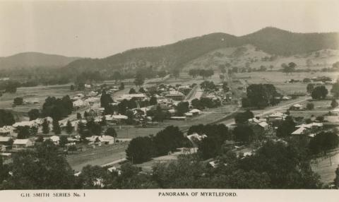 Panorama of Myrtleford, 1916