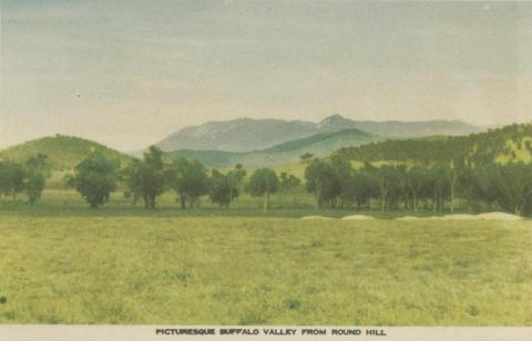 Picturesque Buffalo Valley from Round Hill, Myrtleford, 1953