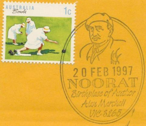 Postmark, Noorat, Birthplace of Alan Marshall