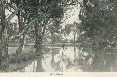 Bala Creek, Numurkah, 1950