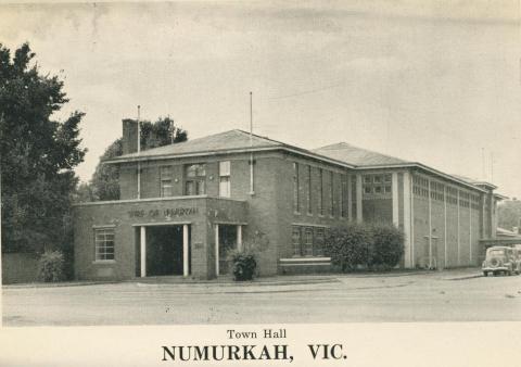 Town Hall, Numurkah, 1950