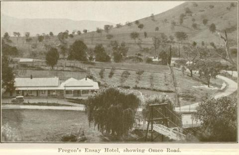 Fregon's Ensay Hotel, showing Omeo Road, Omeo
