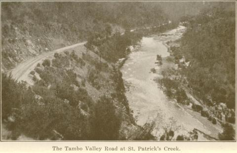 The Tambo Valley Road at St Patrick's Creek, Omeo