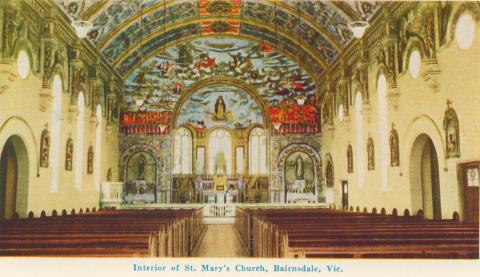 Interior of St Mary's Church, Bairnsdale, 1964