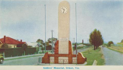 Soldiers' Memorial, Orbost, 1964